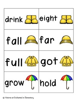 April Showers Sight Words! Third Grade List Pack