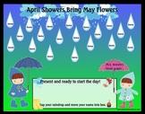 April Showers Smartboard Attendance