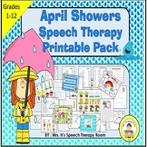 April Showers Speech Therapy Printable Pack