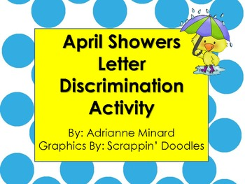 April Showers Spring Color by the Code Discrimination - K and First Grade
