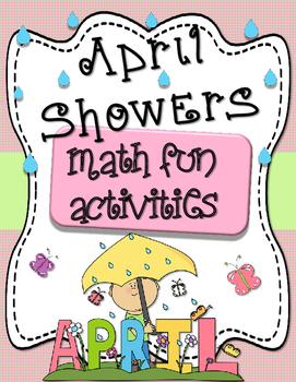 April Showers Math Activities - No Prep