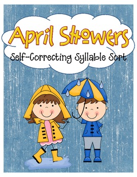 April Showers Spring Rainy Day Syllable Sort and Activity Pages