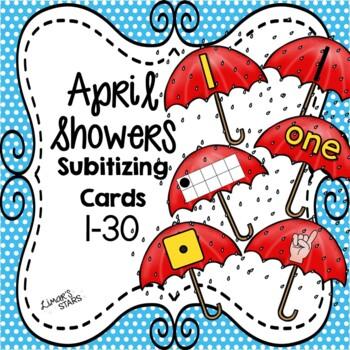 April Showers Subitizing Cards 1-10