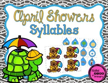 April Showers Syllables (1, 2, 3, & 4 syllables)