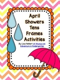 April Showers Tens Frames Activities