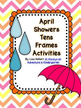 April Showers Tens Frames Activities