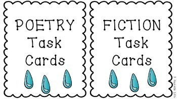 Spring Writing Task Cards, Printables, Picture Prompts-April Showers