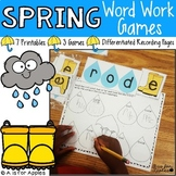 Spring Word Work Activities and Games