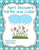 April Showers Write and Color