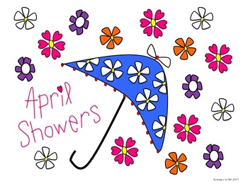 April transparent background. Showers and flowers clip
