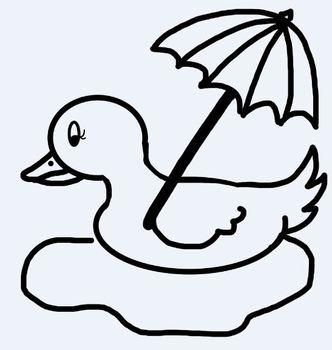 April Showers ducks and umbrellas clip art