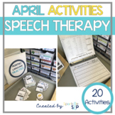 April Monthly Themed Therapy:  Showers of Speech and Language