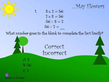 April Showers…May Flowers - Fractions, Multiplication and Division in PowerPoint