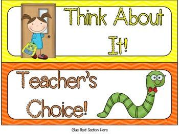 August Back To School Behavior Clip Chart