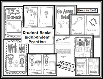 April Sight Word Bundle: 6 Emergent Readers with Writing Response Sheets