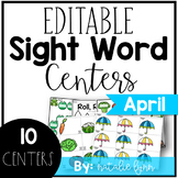 April Editable Sight Word Games and Centers