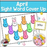 April Sight Word Cover Up- Peeps Style