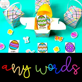 April Sight Word Games - Editable