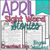 April Comprehension Reading Passages (Sight Word Stories)