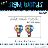 April Sight Words 401-500
