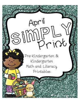 April Simply Print Pre-K & Kindergarten Math & Literacy Printables
