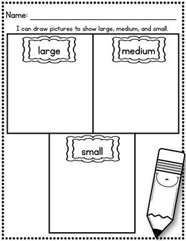 April Size Sorts - CCSS Aligned for Kindergarten