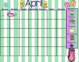 April Smartboard Calendar