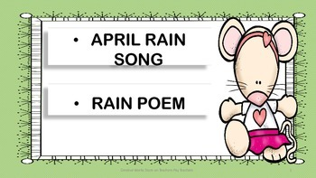 April Song + Rain Poem - 2nd Grade - Poetry Analysis