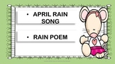 April Song + Rain Poem - 2nd Grade - Poetry Analysis