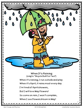 April Songs | Spring | Easter | Earth Day | Rain | Arbor Day