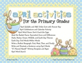 April Sorts, Equivalent Sums and Differences, Calendar Activity & MORE