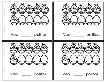 April Spanish Counting Chicks Booklet