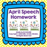 April Speech Homework