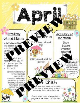 April Speech Newsletter: Vocabulary, Idioms, Reading Strategies, Language