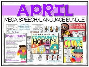 April: Speech/Language Bundle