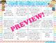 April Spelling Menu (spelling homework ideas!)