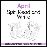 April Spin Read and Write FREEBIE!