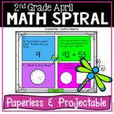 Daily Math Spiral for 2nd Grade  April