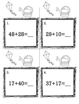 April Spring 1st Grade {Scoot Game/Task Cards} Math Bundle