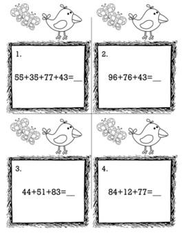 April Spring 2nd Grade {Scoot Game/Task Cards} Math Bundle