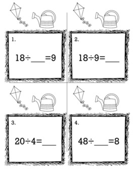 April Spring 3rd Grade {Scoot Game/Task Cards} Math Bundle