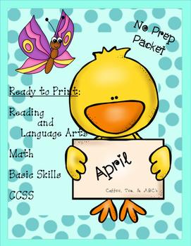 April..Spring Activities ..Literacy and Math..No Prep (Kin