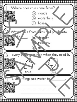 April- Spring & Earth Day - Non Fiction QR Code Comprehension