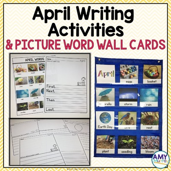 April, Spring and Easter Themed Writing Activities and Write the Room