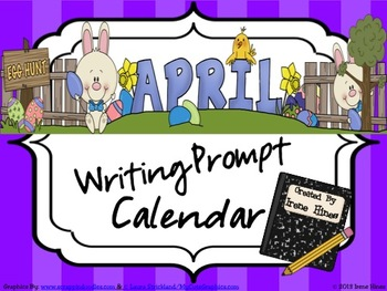 April, Spring & Easter Writing Prompt Calendar ~{Common Core Standards}