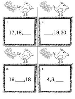 April Spring Kindergarten {Scoot Game/Task Cards} Math Bundle