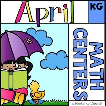 April Spring Math Centers K - 2 Bundle