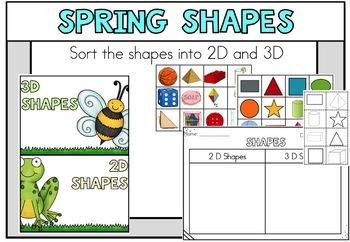 April Spring Math Centers Kindergarten