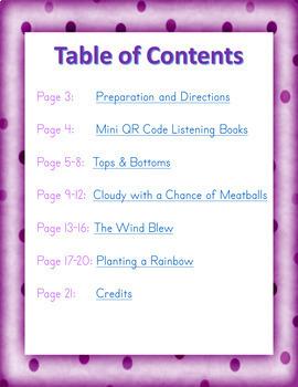 April: Spring QR Code Listening Center w/ Comprehension