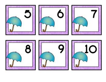 April Spring Rain Themed Calendar Cards